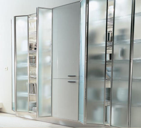 Kitchen cabinet doors from modern to traditional from for Glass kitchen cabinet doors