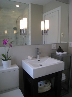 Small Bathroom Design on Corner Sinks Can Be Good For Use In Small Bathroom Design Plans