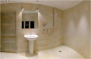 wet-room suitable for disabled