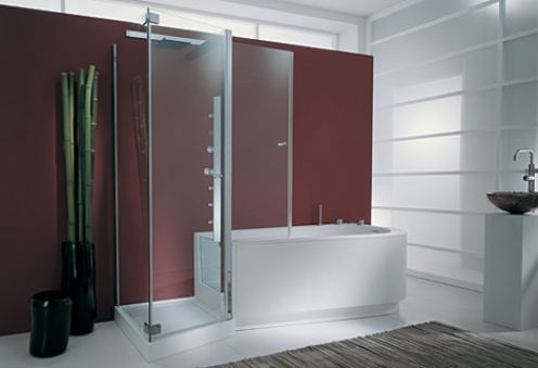 tub shower combo- walk in